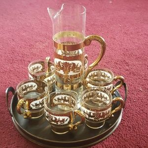 Absolutely gorgeous HWR pitcher and 6 cups set